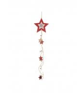 Елочное украшение Звезда дерево, 69см