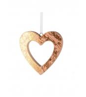 """Елочное украшение """"Сердце"""" дерево, 11см"""