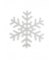 Елочное украшение Снежинка, 29.5см пластик